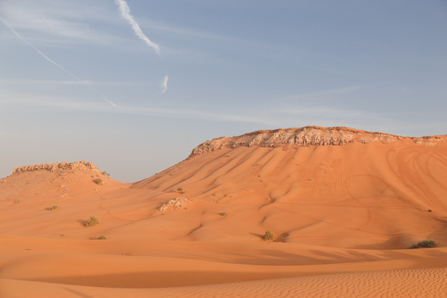 Mountains and dune